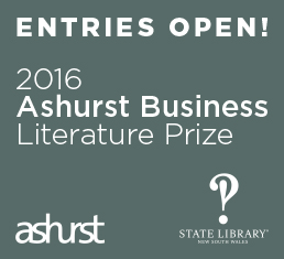 Entries Open! 2016 Ashurt Business Literature Prize
