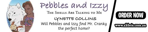 Image. Advertisement: Pebbles and Izzy