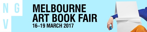 Image. Advertisement: NGV: Melbourne Art Book Fair