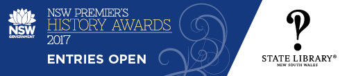 Image. Advertisement: NSW Premier's History Awards: entries open