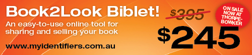 Image. Advertisement: Book2Look Biblet