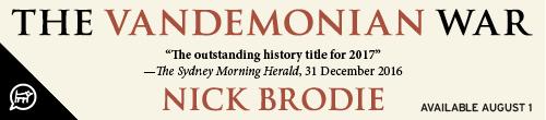 Image. Advertisement: The Vandemonian War by Nick Brodie