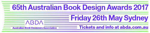 Image. Advertisement: 65th Australian Book Design Awards. Friday 26th May.