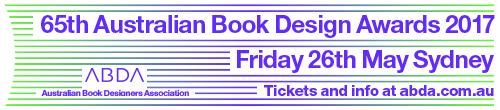 Image. Advertisement: 65th Australian Book Design Awards. Friday 26th May.
