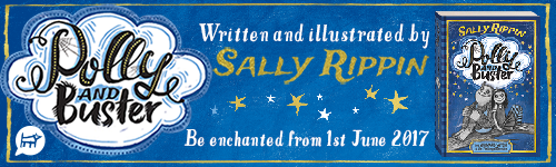 Image. Advertisement: Polly and Buster. Written and illustrated by Sally Rippin