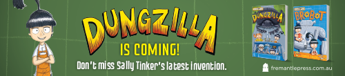 Image. Advertisement: Dungzilla is coming!