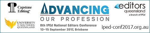 Image. Advertisement: Advancing our profession. 8th IPEd National Editors Conference