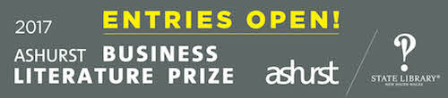 Image. Advertisement: Entries Open! 2017 Ashurst Business Literature Prize