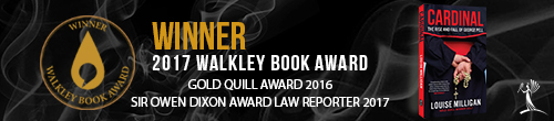 Image. Advertisement: 2017 Walkley Book Award winner: Cardinal by Louise Milligan