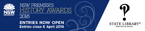 Image. Advertisement: NSW Premier's History Awards 2018