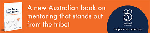 Image. Advertisement: A new Australian book on mentoring that stands out from the tribe!