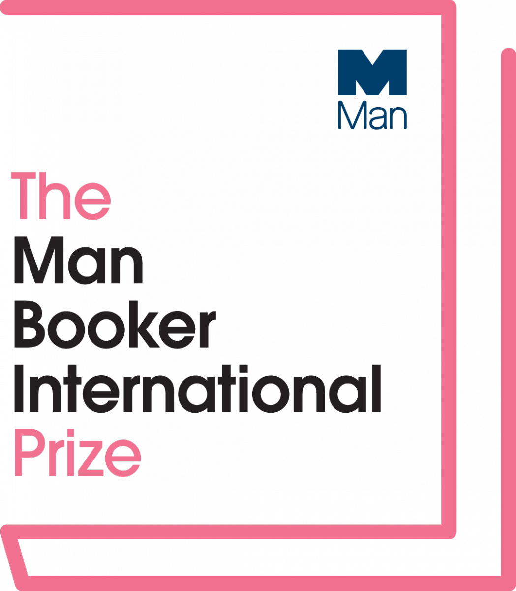 Pink book logo with the text: The Man Booker International Prize