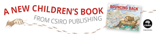 Image. Advertisement: A new children's book from CSIRO Publishing: Bouncing Back.