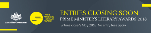 Image. Advertisement: Entries closing soon: Prime Minister's Literary Awards 2018.