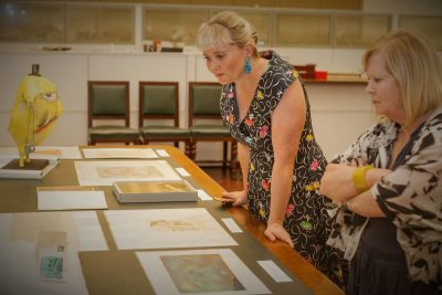 Dromkeen Collection, Megan Daley with her mother, Robyn Dean, also a teacher librarian