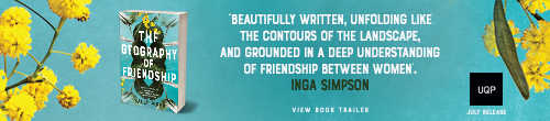 Image. Advertisement: The Geography of Friendship by Inga Simpson