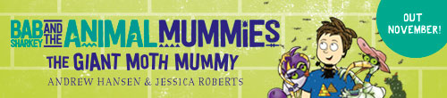 Image. Advertisement: Bad Sharkey and the Animal Mummies
