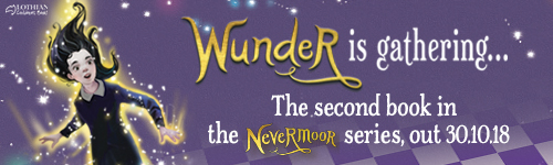 Image. Advertisement: Wunder is gathering. The second book in the Nevermoor series. Out 30 October 2018.