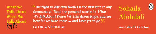Image. Advertisement: What We Talk About When We Talk About Rape